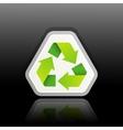 A green recycle symbol vector