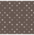 Tile brown and grey polka dots background vector