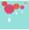 Air balloons in blue sky vector