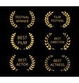 Film awards vector