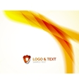 Sunny blur yellow wave design vector