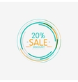 Minimal line design shopping stamps sale vector