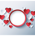 Love background valentines day frame 3d heart vector