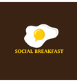 Social breakfast with fried eggs design template vector