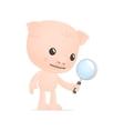 Funny cartoon pig vector
