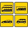 Yellow passenger transport icon vector
