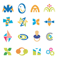 Company icons symbols vector