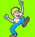 Happy man dancing vector