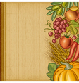 Retro harvest background vector