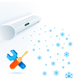 Air conditioners fun service element white blue vector