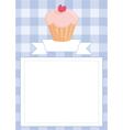 Blue restaurant menu card or baby shower list vector