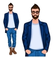 Hipster young guy vector