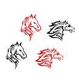 Tribal horses vector
