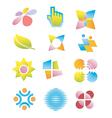 Symbols logos icons vector
