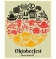 Oktoberfest beer festival label vector
