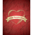 Crumpled vintage valentines day card vector
