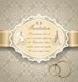 Vintage wedding invitation 6 vector