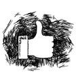 Thumb up doodle vector