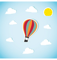 Abstract paper air balloon vector