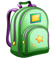 A green schoolbag vector