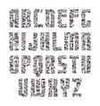 Sans serif decorated font vector