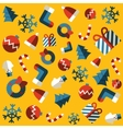 Seamless background merry christmas vector