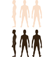 Teenager boy silhouette vector