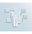Flat paper businessman icon vector