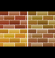 Brick designs vector