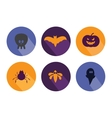 Halloween flat icons vector