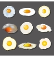 Fried egg collection vector