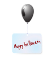 Balloon with happy halloween tag vector