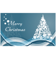 Merry christmas circle tree background vector