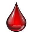 Drop of blood vector