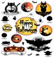 Halloween different elements vector