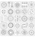 Seamless pattern sampler doodle flowers leaves vector