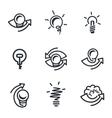 Idea icons set vector