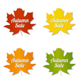 Autumn sale labels vector
