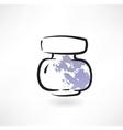Ink jar grunge icon vector