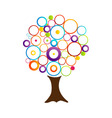 Abstract tree with circles vector
