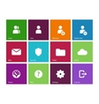 User account icons on color background vector