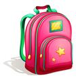 A pink schoolbag vector