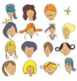 Set on the face of adults and children vector
