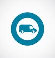 Van icon bold blue circle border vector