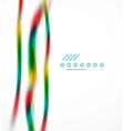 Blurred flowing business wave vector