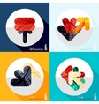 Geometric infographic set in trendy flat style vector