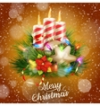 Candles and christmas ornaments eps 10 vector