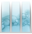 Blue glowing bubbles banner vector