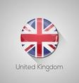 European flags set - united kingdom vector