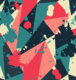 Retro triangle seamless pattern with blob effect vector
